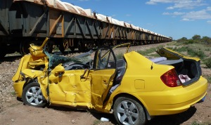 Car involved in collision near Port Germain, March 19th, 2012. Source ATSB