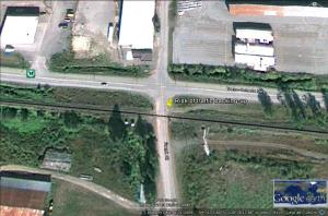 Frank Street, Terrace, BC AHB level crossing and adjacent highway intersection. Source: Google Earth