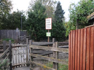 Barratt's Lane No.2 footpath crossing, Attenborough, Nottinghamshire. Source: BTP via RAIB