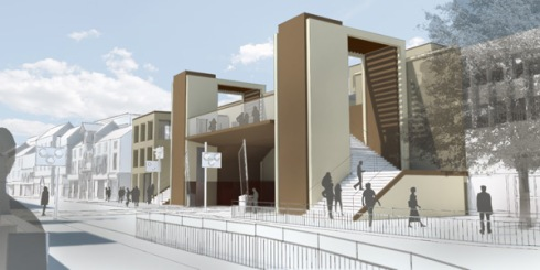 Lincoln High Street new pedestrian over-bridge, source Network Rail