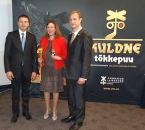 Estonian Minister of Interior Affairs, Hanno Pevkur Isabelle Fonverne (UIC), Tamo Vahemets, Chairman of OLE Management Board